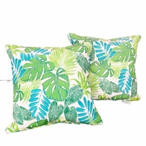Tommy Bahama floral leaf throw pillows